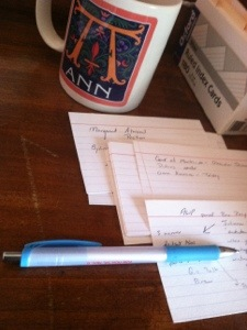 index cards, author appearance, Colin McEnroe